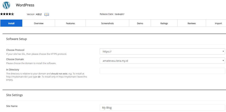 Memasang WordPress