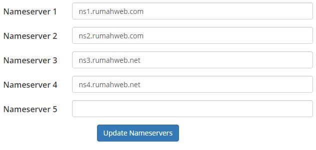 Name Server Sesuai Hosting