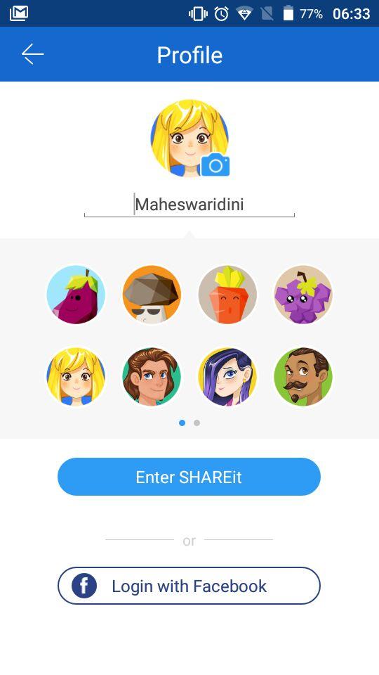 Profil SHAREit