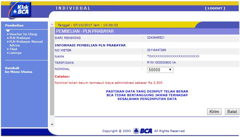 Pln Token Listrik Prabayar Rp50000 Daftar Harga Terkini dan Source · Nominal Pulsa Listrik