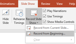 Screen Recording Power Point 2019