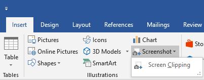 Screenshot Microsoft Office 2019