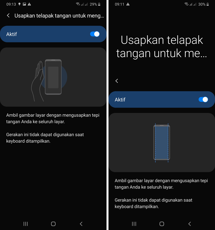 Screenshot Samsung Menggunakan Getur